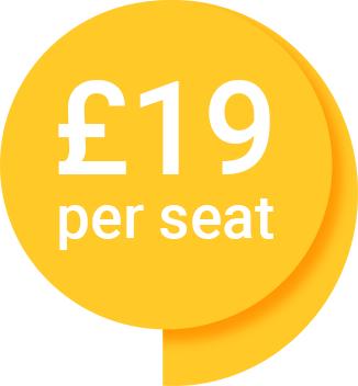 £19 per seat